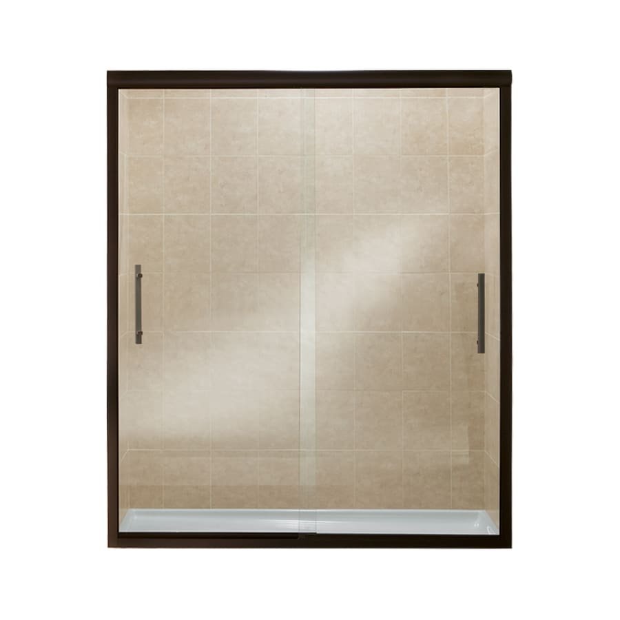 Sterling Finesse 44.625-in to 59.625-in W x 70.0625-in H Deep Bronze Sliding Shower Door