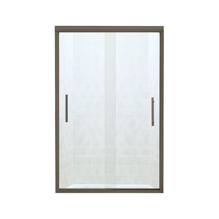 Sterling Finesse 44.625-in to 47.625-in W x 70.0625-in H Deep Bronze Sliding Shower Door