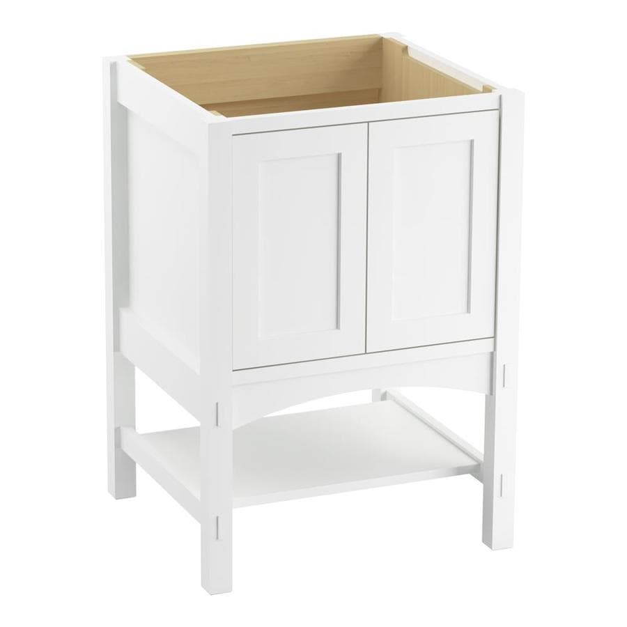 KOHLER Marabou Linen White Bathroom Vanity (Common: 24-in x 22-in; Actual: 24-in x 21.87-in)
