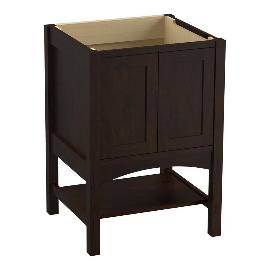 KOHLER Marabou Claret Suede Bathroom Vanity (Common: 24-in x 22-in; Actual: 24-in x 21.87-in)