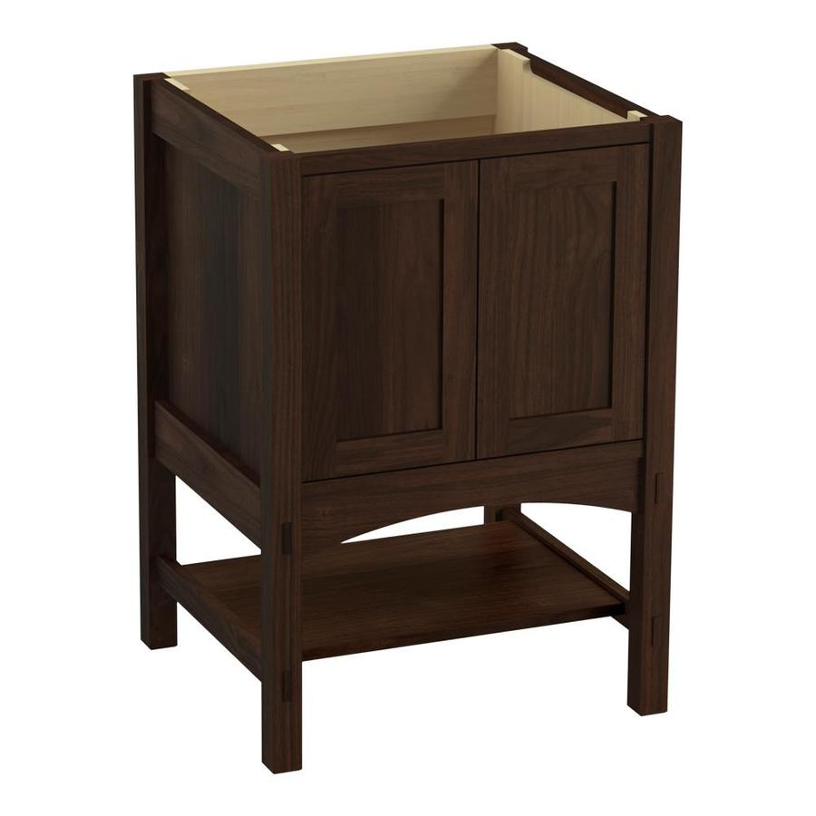 KOHLER Marabou 24-in Ramie Walnut Traditional Bathroom Vanity