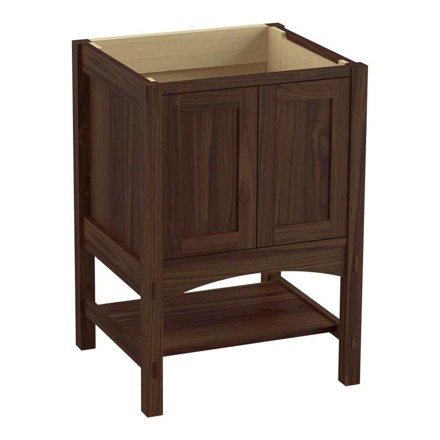 KOHLER Marabou Terry Walnut Bathroom Vanity (Common: 24-in x 22-in; Actual: 24-in x 21.87-in)