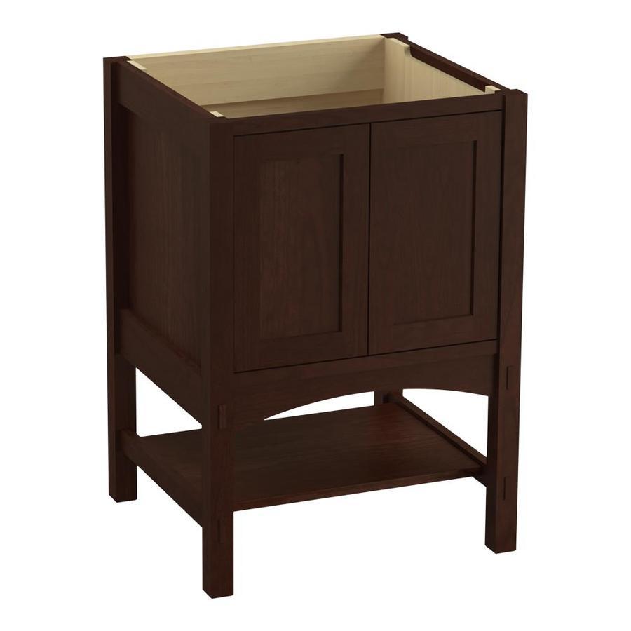 KOHLER Marabou Cherry Tweed (Common: 24-in x 22-in) Traditional Bathroom Vanity (Actual: 24-in x 21.875-in)