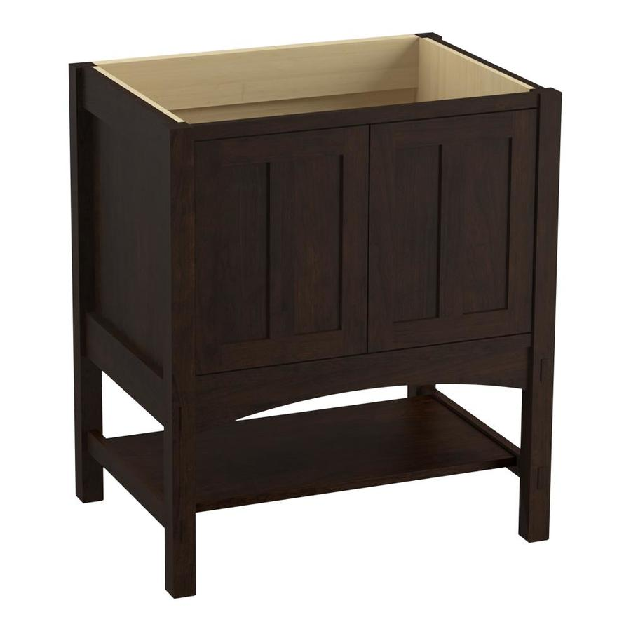KOHLER Marabou Claret Suede Bathroom Vanity (Common: 30-in x 22-in; Actual: 30-in x 21.87-in)