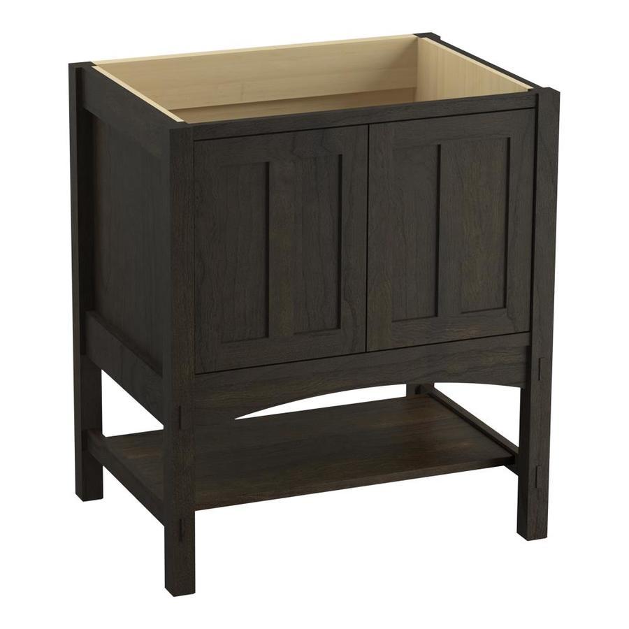 KOHLER Marabou Felt Grey Bathroom Vanity (Common: 30-in x 22-in; Actual: 30-in x 21.87-in)
