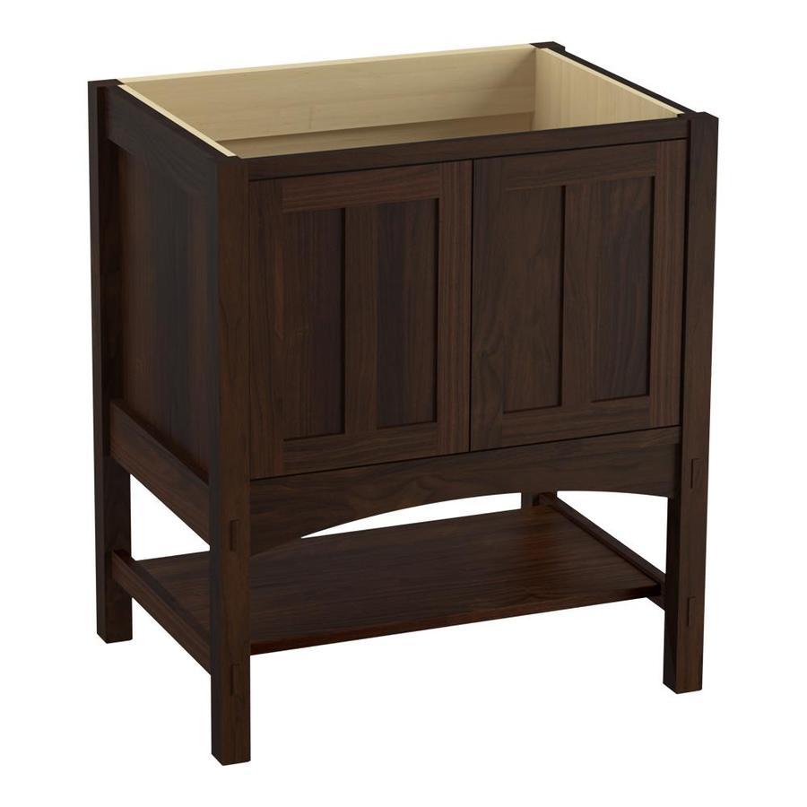KOHLER Marabou Ramie Walnut Bathroom Vanity (Common: 30-in x 22-in; Actual: 30-in x 21.87-in)