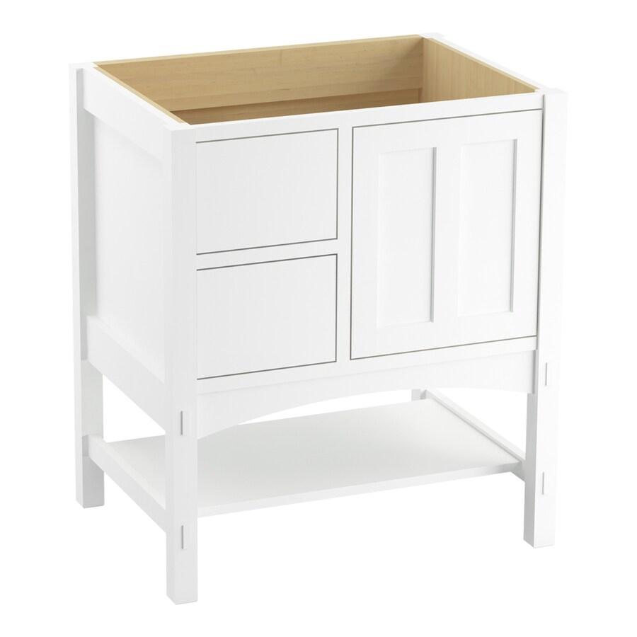 KOHLER Marabou Linen White 30-in Traditional Bathroom Vanity