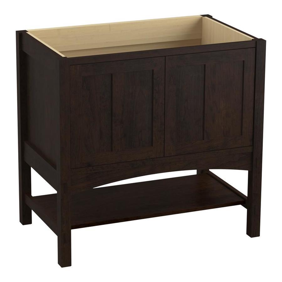 KOHLER Marabou Claret Suede (Common: 36-in x 22-in) Traditional Bathroom Vanity (Actual: 36-in x 21.875-in)