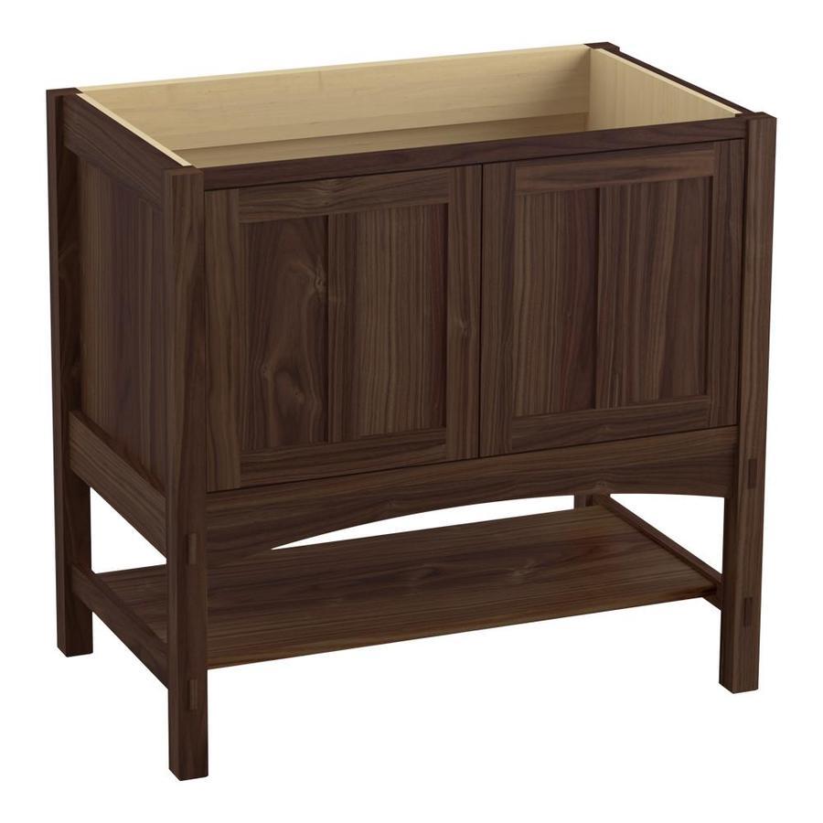 KOHLER Marabou Terry Walnut Bathroom Vanity (Common: 36-in x 22-in; Actual: 36-in x 21.87-in)