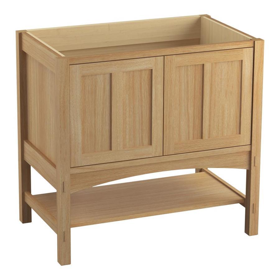 KOHLER Marabou Khaki White Oak 36-in Traditional Bathroom Vanity