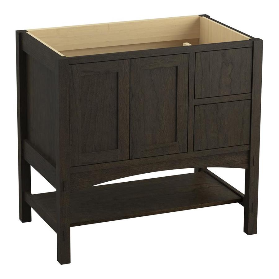 KOHLER Marabou Felt Grey (Common: 36-in x 22-in) Traditional Bathroom Vanity (Actual: 36-in x 21.875-in)