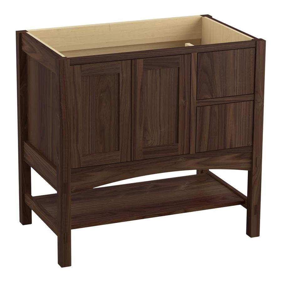 KOHLER Marabou Terry Walnut (Common: 36-in x 22-in) Traditional Bathroom Vanity (Actual: 36-in x 21.875-in)