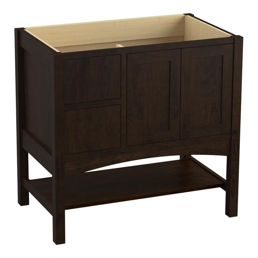 KOHLER Marabou Claret Suede Bathroom Vanity (Common: 36-in x 22-in; Actual: 36-in x 21.87-in)