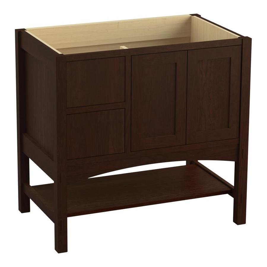 KOHLER Marabou 36-in Cherry Tweed Bathroom Vanity Cabinet At Lowes.com