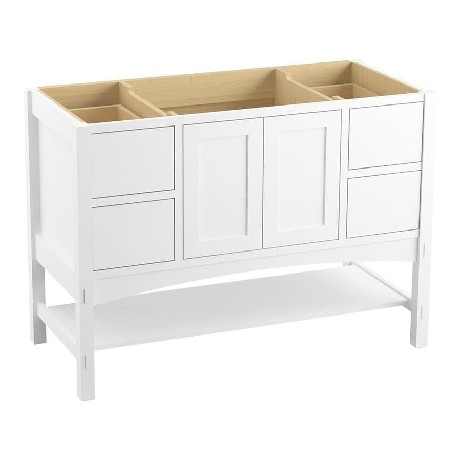 KOHLER Marabou Linen White Bathroom Vanity (Common: 36-in x 22-in; Actual: 36-in x 21.87-in)