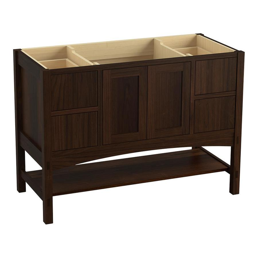 KOHLER Marabou Ramie Walnut Bathroom Vanity (Common: 36-in x 22-in; Actual: 36-in x 21.87-in)