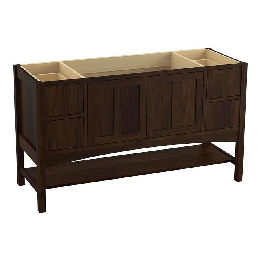 KOHLER Marabou Ramie Walnut 60-in Traditional Bathroom Vanity