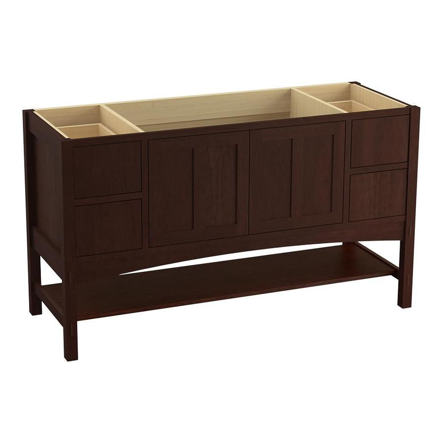 KOHLER Marabou Cherry Tweed Bathroom Vanity (Common: 60-in x 22-in; Actual: 60-in x 21.50-in)