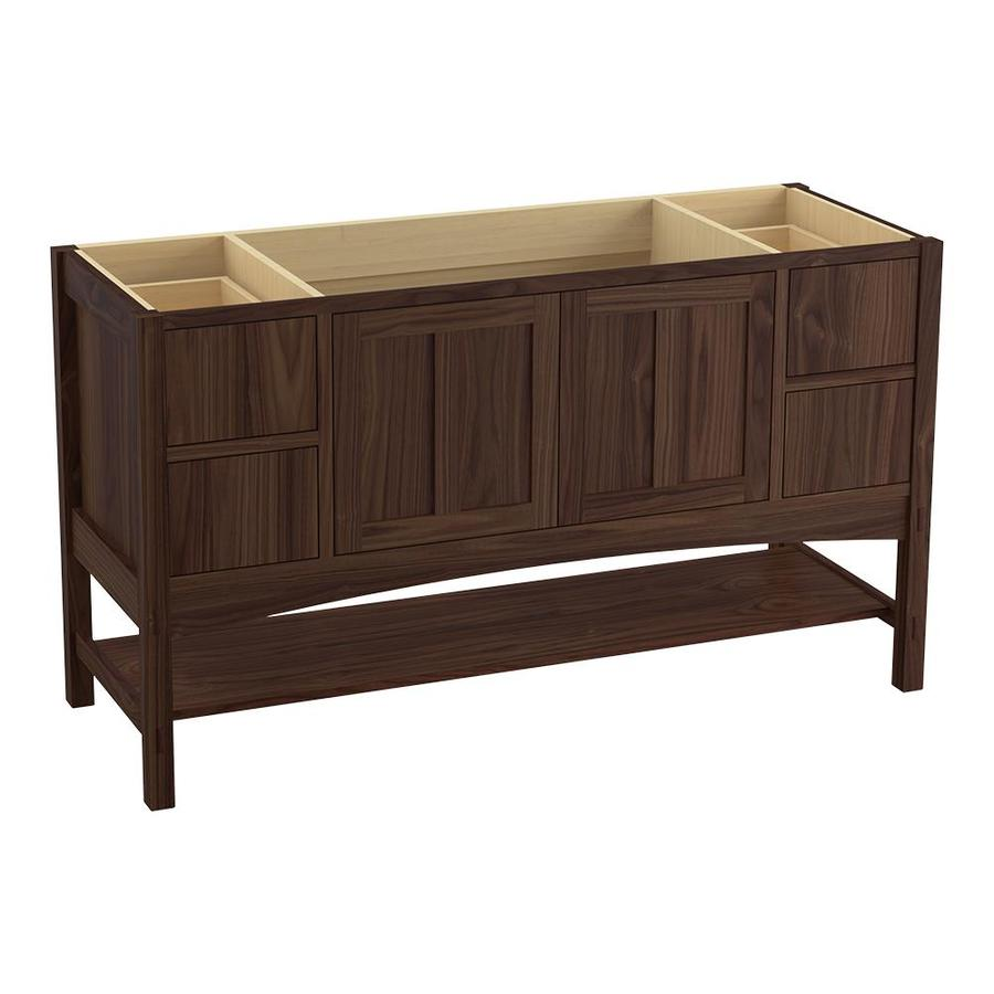 KOHLER Marabou Terry Walnut (Common: 60-in x 22-in) Traditional Bathroom Vanity (Actual: 60-in x 21.5-in)