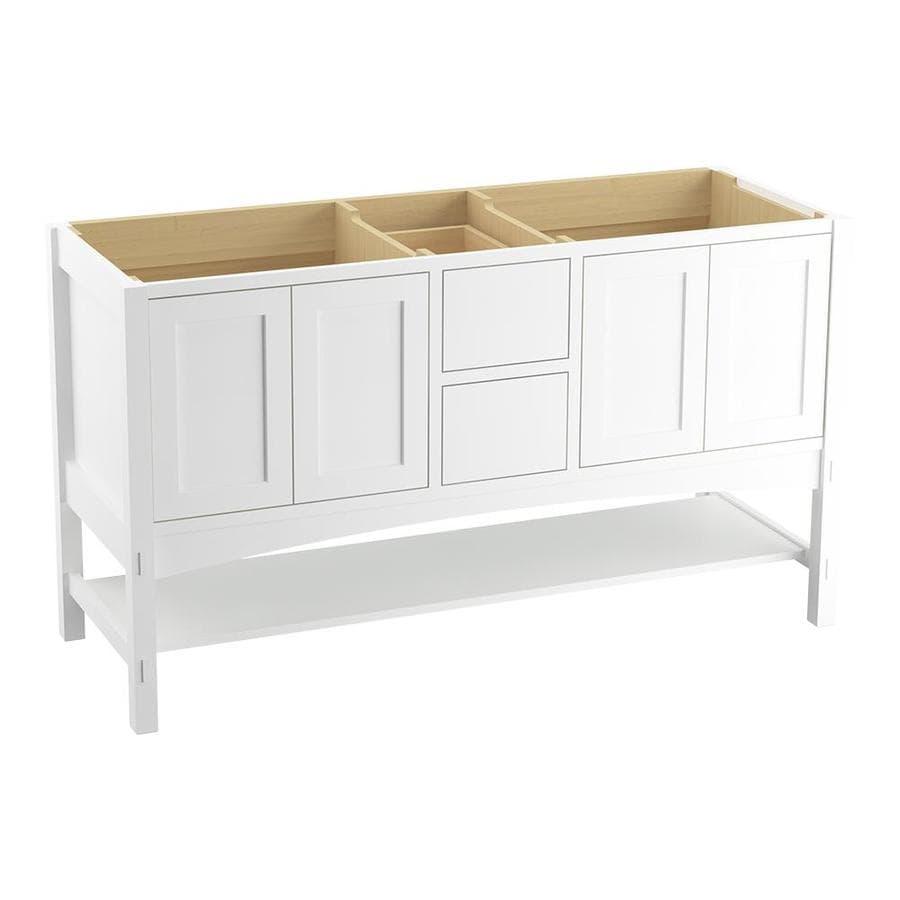KOHLER Marabou Linen White Bathroom Vanity (Common: 60-in x 22-in; Actual: 60-in x 21.5-in)