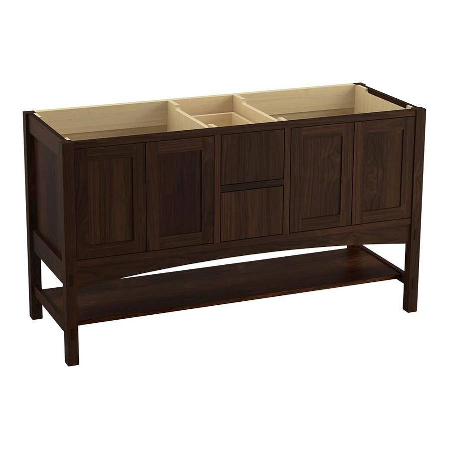 KOHLER Marabou 60-in Ramie Walnut Traditional Bathroom Vanity