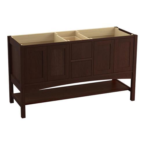 kohler marabou 60in cherry tweed bathroom vanity cabinet