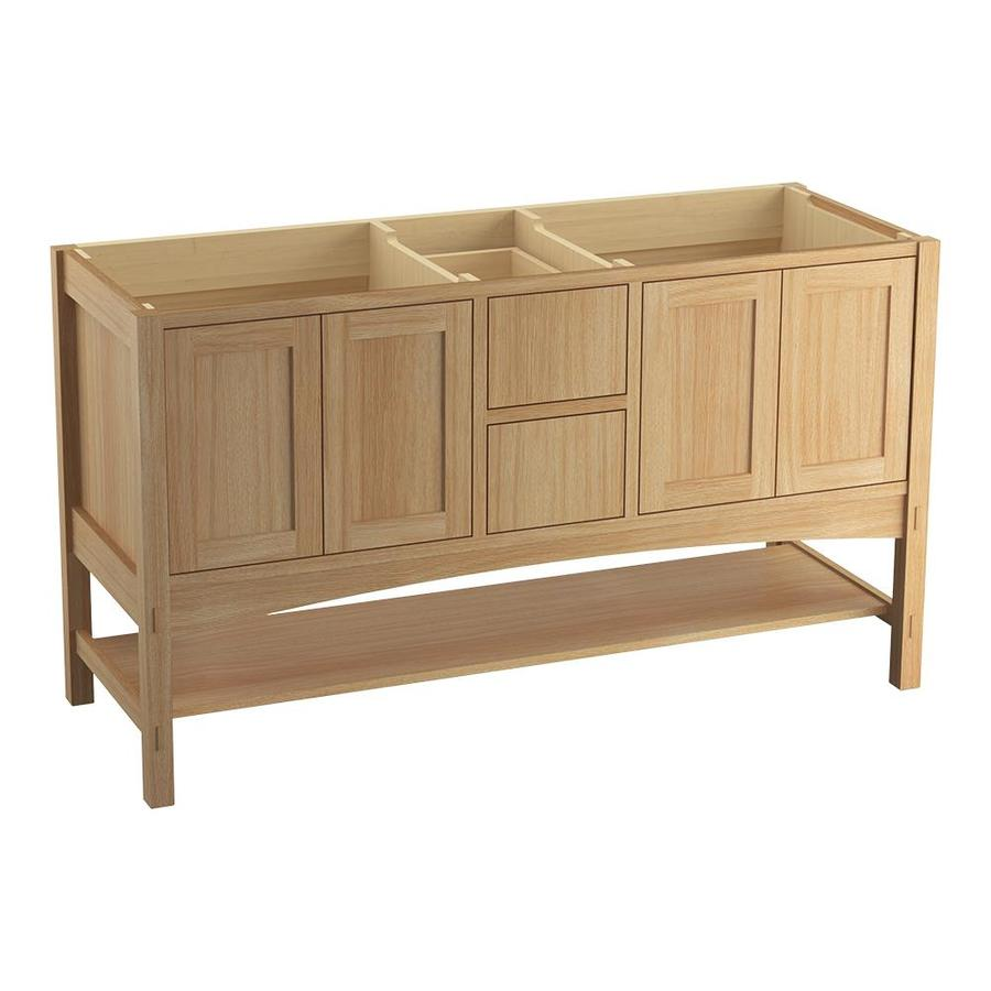 KOHLER Marabou 60-in Khaki White Oak Traditional Bathroom Vanity
