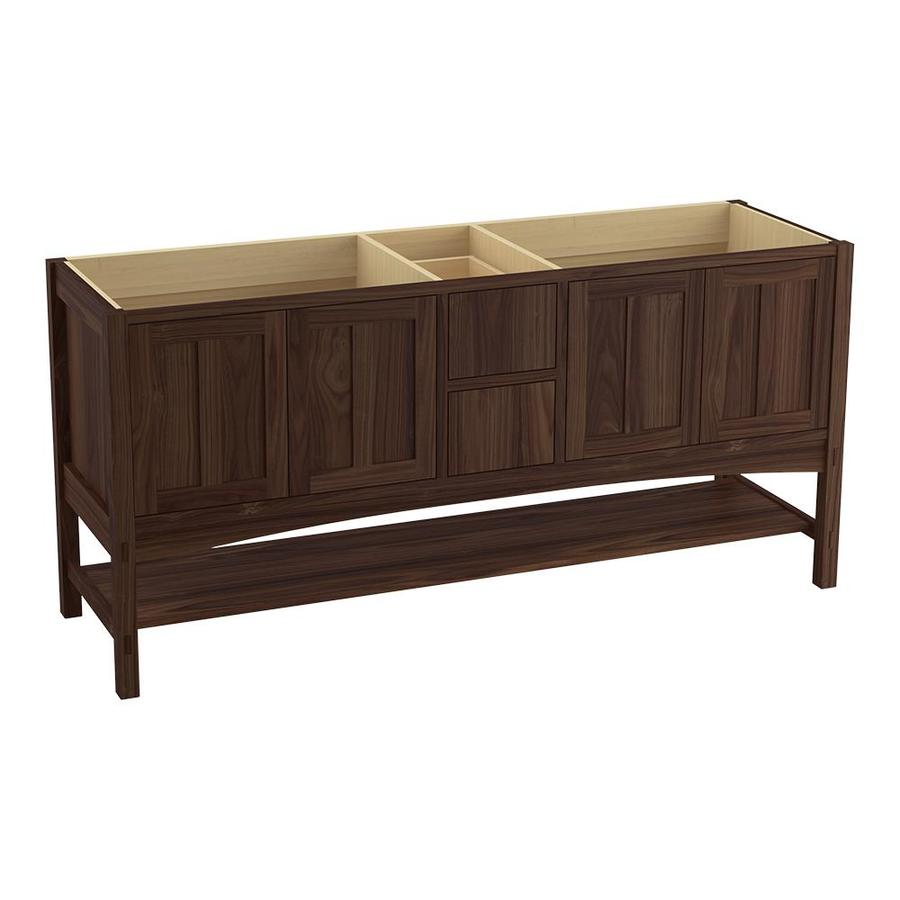 KOHLER Marabou Terry Walnut 72-in Traditional Bathroom Vanity