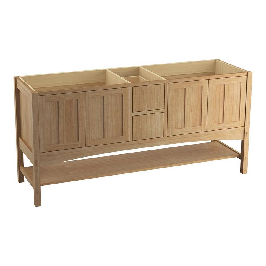 Kohler Marabou 72 In Khaki White Oak Bathroom Vanity Cabinet At