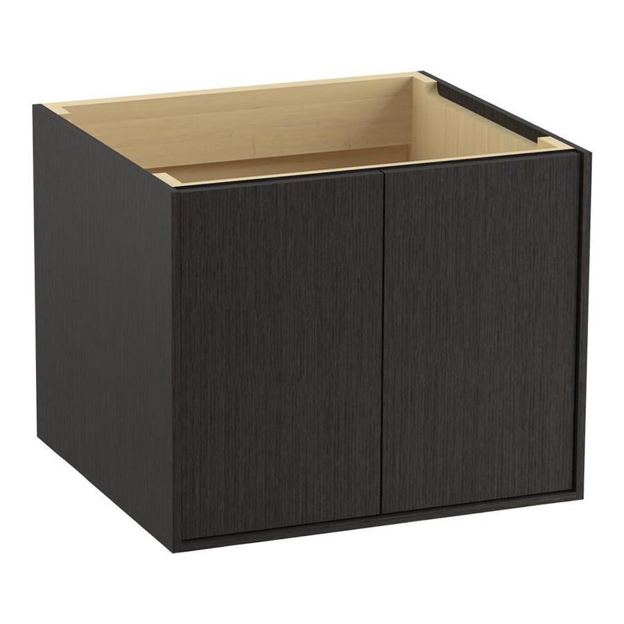 KOHLER Jute Satin Oak 24-in Contemporary Bathroom Vanity