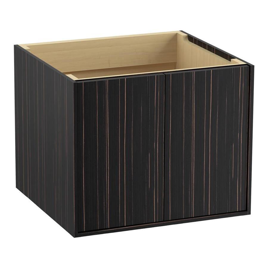 KOHLER Jute Wall-mount Ebony Velour Bathroom Vanity (Common: 24-in x 22-in; Actual: 24-in x 21.87-in)