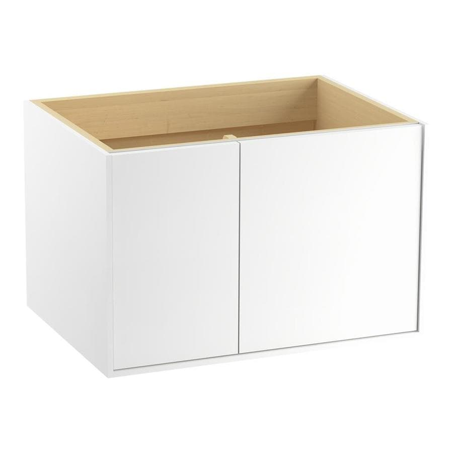 KOHLER Jute Linen White (Common: 30-in x 22-in) Contemporary Bathroom Vanity (Actual: 30-in x 21.875-in)