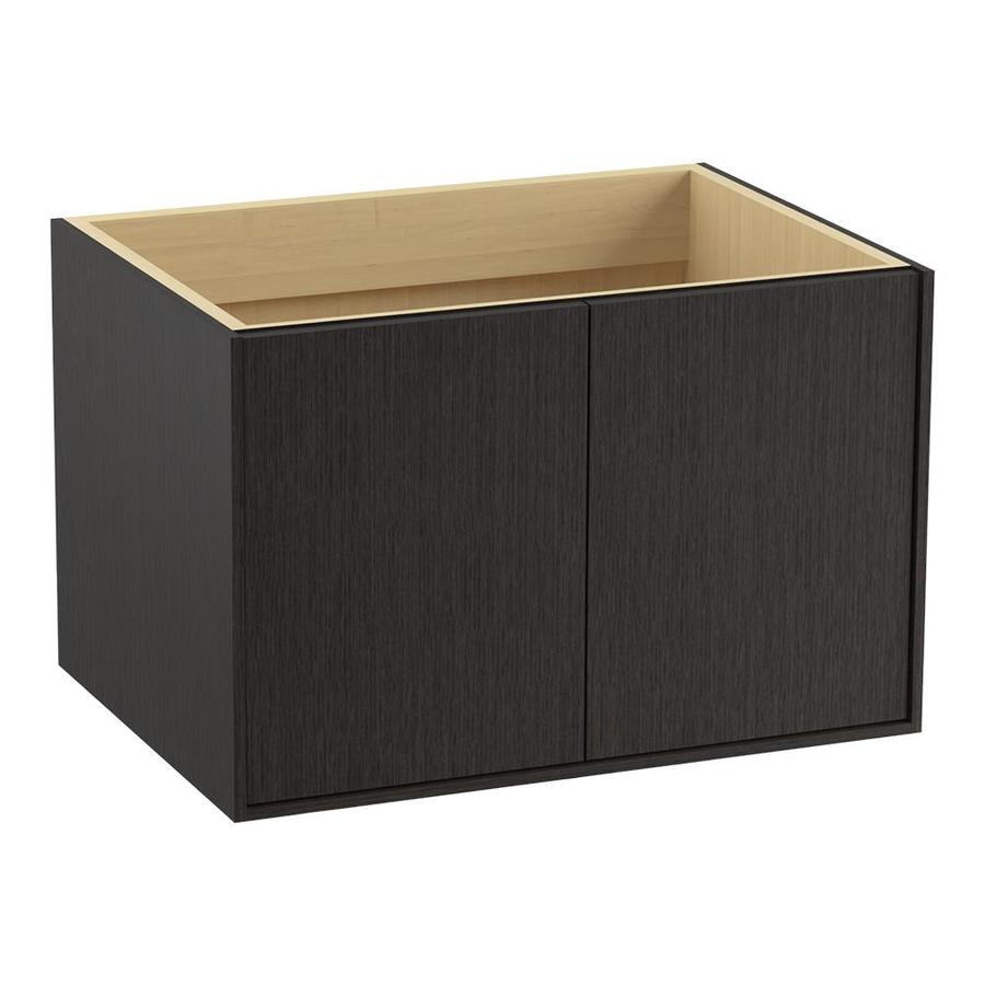 KOHLER Jute Wall-mount Satin Oak Bathroom Vanity (Common: 30-in x 22-in; Actual: 30-in x 21.87-in)
