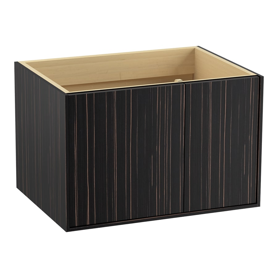 KOHLER Jute Ebony Velour (Common: 30-in x 22-in) Contemporary Bathroom Vanity (Actual: 30-in x 21.875-in)