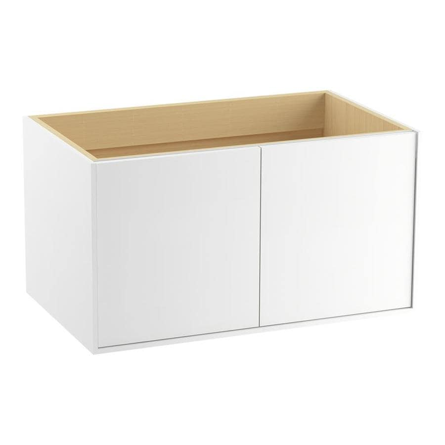 KOHLER Jute Wall-mount Linen White Bathroom Vanity (Common: 36-in x 22-in; Actual: 36-in x 21.87-in)