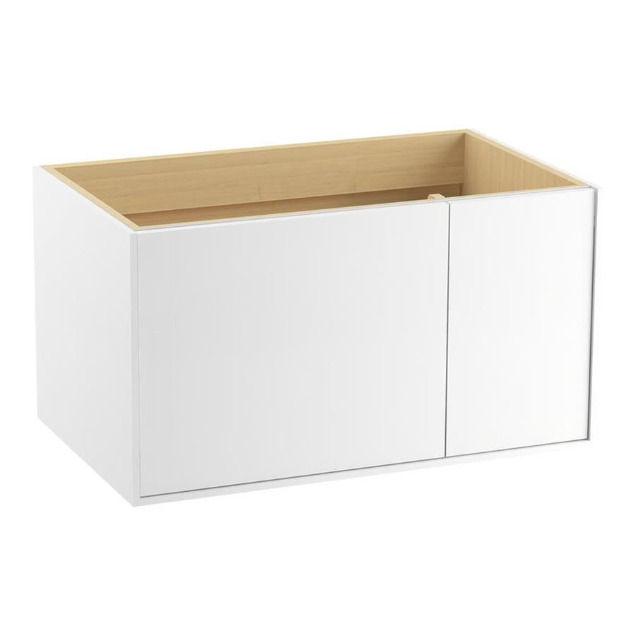 KOHLER Jute Linen White (Common: 36-in x 22-in) Contemporary Bathroom Vanity (Actual: 36-in x 21.875-in)