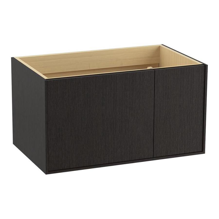 KOHLER Jute Wall-mount Satin Oak Bathroom Vanity (Common: 36-in x 22-in; Actual: 36-in x 21.87-in)