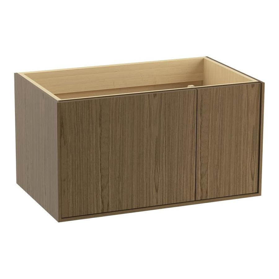 KOHLER Jute Walnut Flax (Common: 36-in x 22-in) Contemporary Bathroom Vanity (Actual: 36-in x 21.875-in)