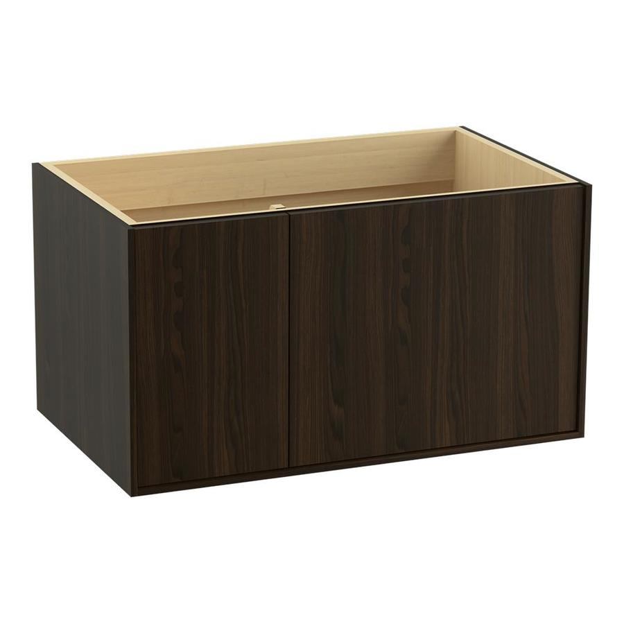 KOHLER Jute Wall-mount Jersey Oak Bathroom Vanity (Common: 36-in x 22-in; Actual: 36-in x 21.87-in)