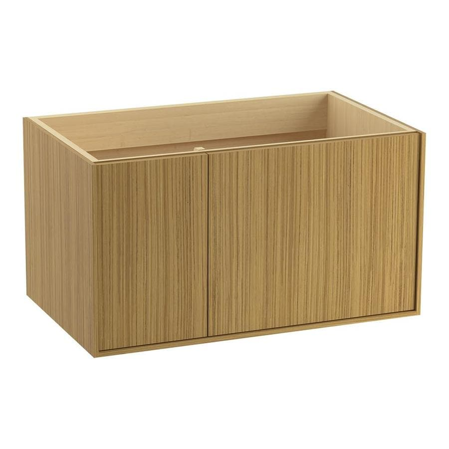KOHLER Jute Corduroy Teak (Common: 36-in x 22-in) Contemporary Bathroom Vanity (Actual: 36-in x 21.875-in)