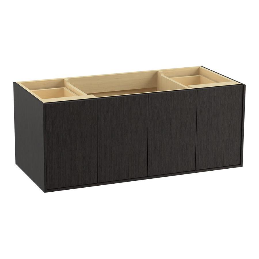 KOHLER Jute Wall-mount Satin Oak Bathroom Vanity (Common: 48-in x 22-in; Actual: 48-in x 21.87-in)
