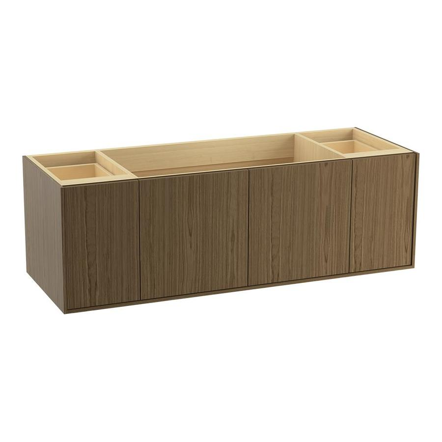 KOHLER Jute Walnut Flax 60-in Contemporary Bathroom Vanity