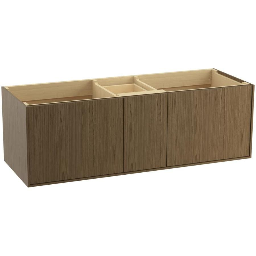 KOHLER Jute Wall-mount Walnut Flax Bathroom Vanity (Common: 60-in x 22-in; Actual: 60-in x 21.5-in)