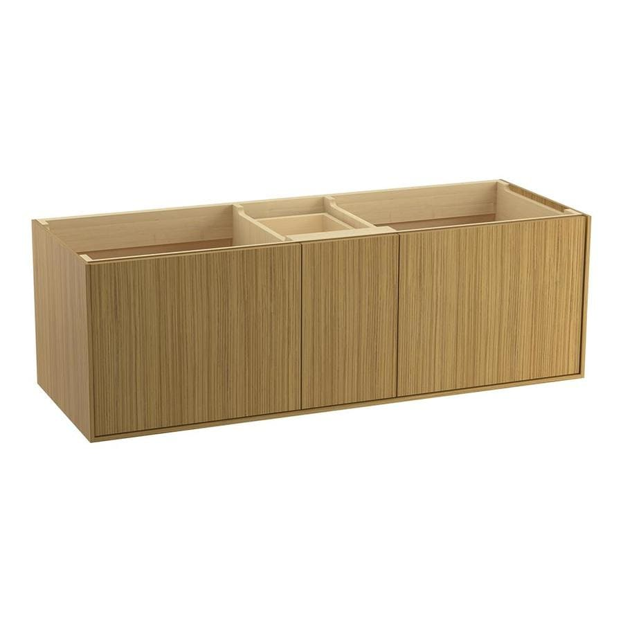 KOHLER Jute Corduroy Teak 60-in Contemporary Bathroom Vanity