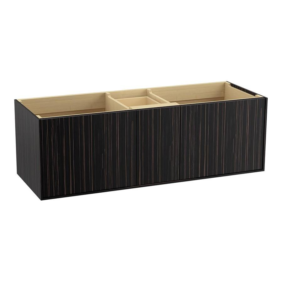 KOHLER Jute Wall-mount Ebony Velour Bathroom Vanity (Common: 60-in x 22-in; Actual: 60-in x 21.50-in)
