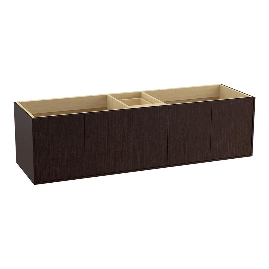 KOHLER Jute Wall-mount Laurentii Silk Bathroom Vanity (Common: 72-in x 22-in; Actual: 72-in x 21.5-in)