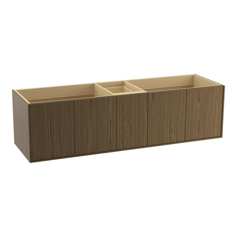 KOHLER Jute Walnut Flax (Common: 72-in x 22-in) Contemporary Bathroom Vanity (Actual: 72-in x 21.5-in)
