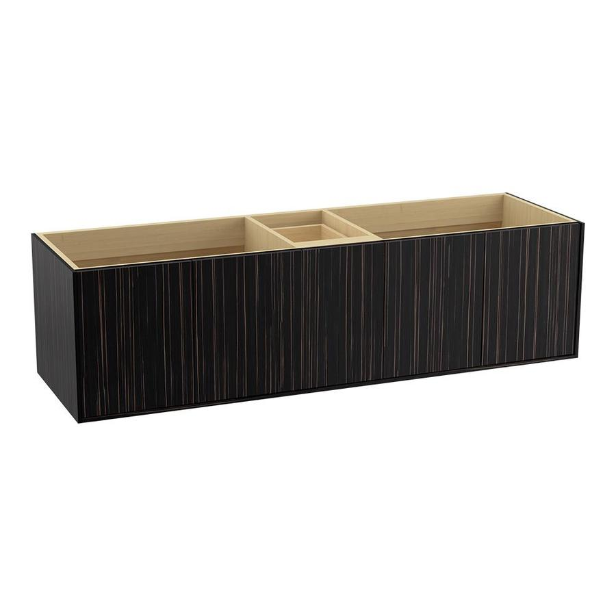 KOHLER Jute Wall-mount Ebony Velour Bathroom Vanity (Common: 72-in x 22-in; Actual: 72-in x 21.5-in)