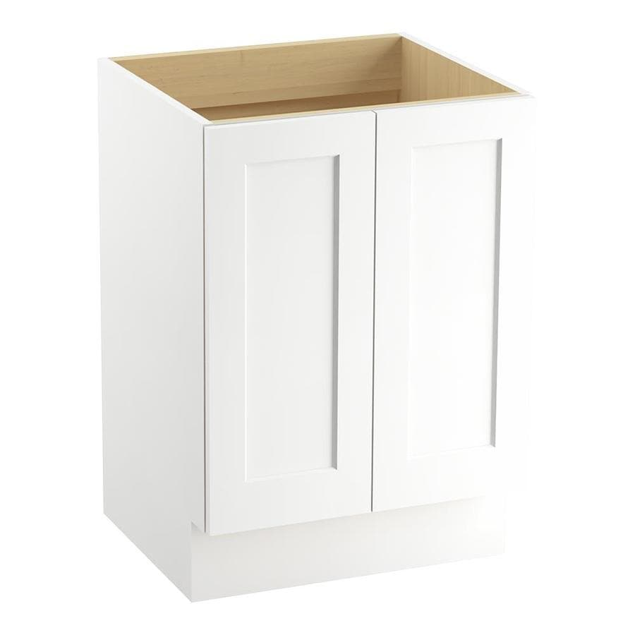 KOHLER Poplin Linen White (Common: 24-in x 22-in) Traditional Bathroom Vanity (Actual: 24-in x 21.875-in)