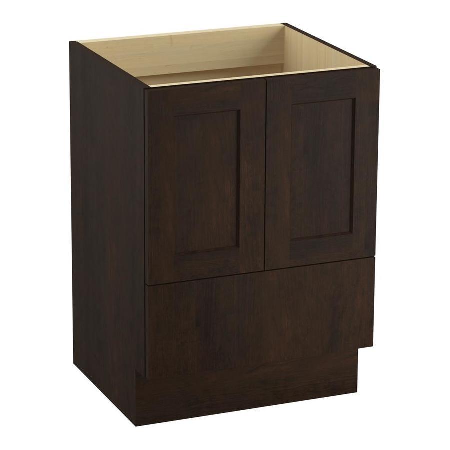 KOHLER Poplin Claret Suede Bathroom Vanity (Common: 24-in x 22-in; Actual: 24-in x 21.87-in)